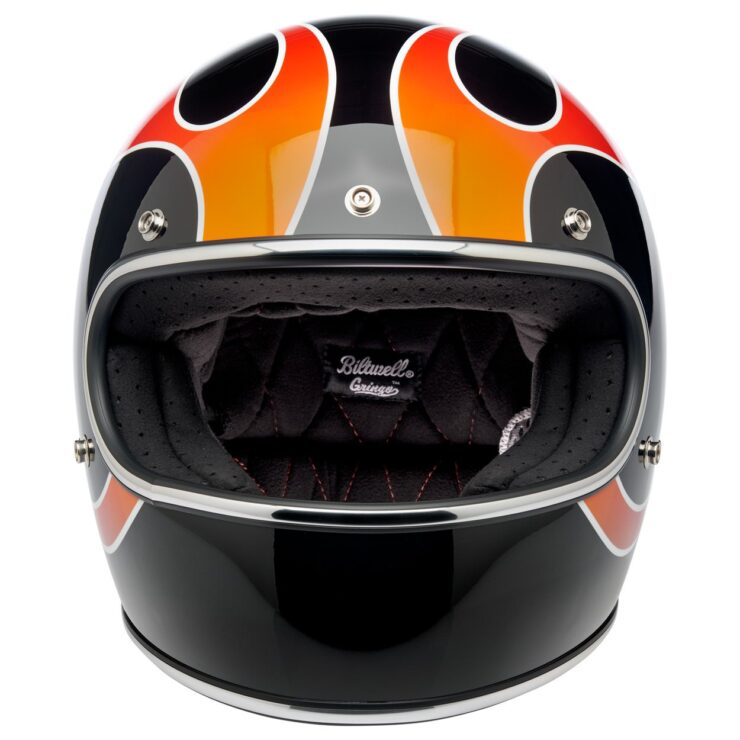 Biltwell Gringo ECE Dice Flame Helmet 6