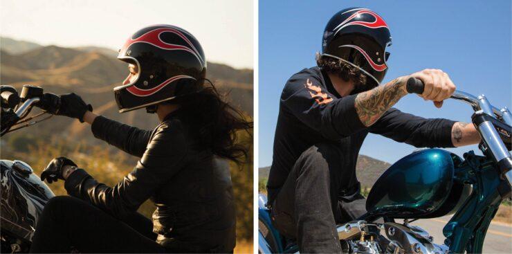 Biltwell Gringo ECE Dice Flame Helmets