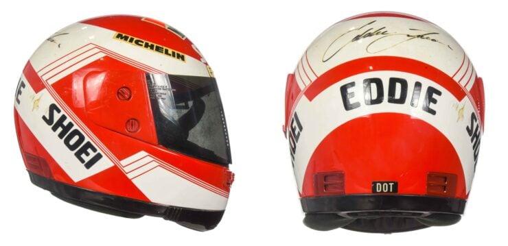 Eddie Lawson Shoei Helmet Collage