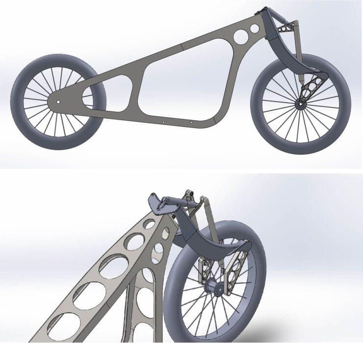 Revival Cycles Landspeeder Custom BMW CAD