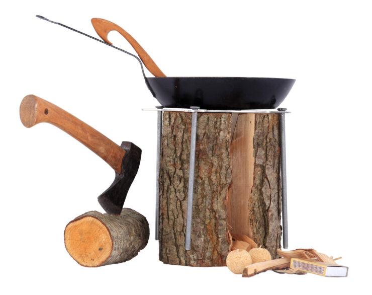 Swedish Fire Log MITI-001 Outdoor Cooking Tool 2