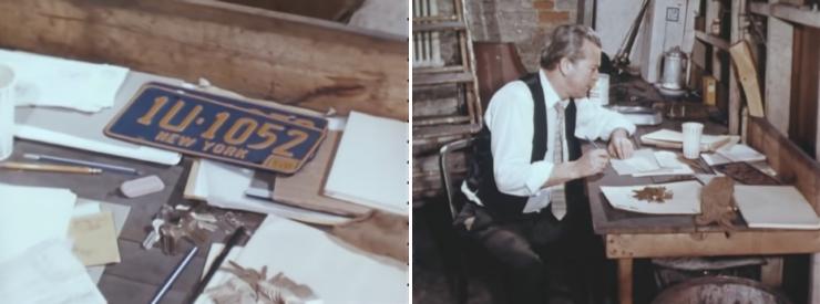 Vintage FBI Training Film Examination Of Stolen Cars Film Collage 2