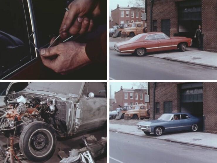Vintage FBI Training Film Examination Of Stolen Cars Film Collage