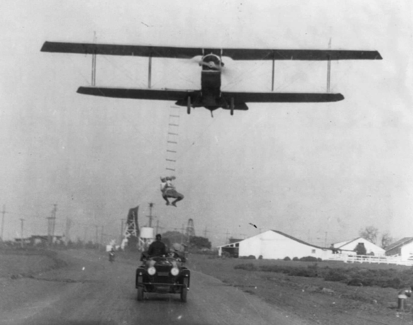 Automobile, Motorcycle, Airplane, and Bicycle Stunts From 1918