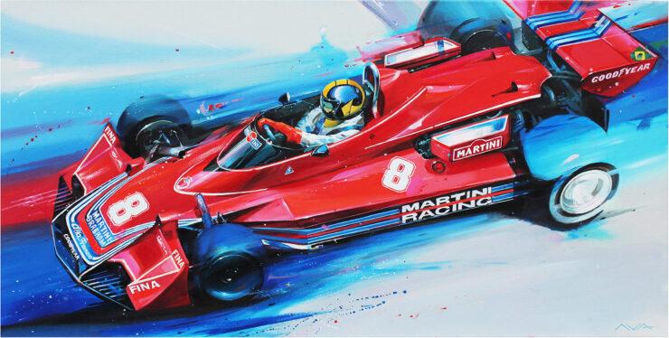 Brabham BT45 F1 Car Art