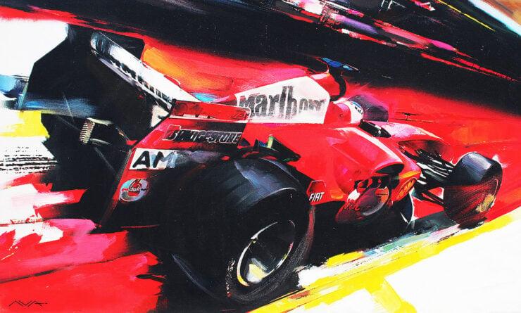 Ferrari F1 Car Art