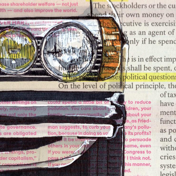 Mercedes Art Detail
