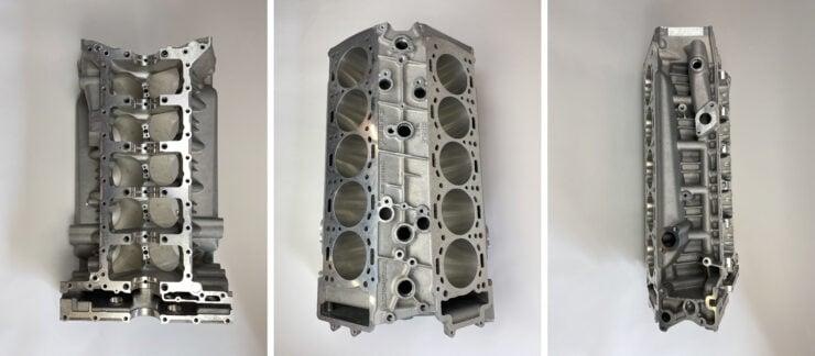 Porsche Carrera GT Engine Block Collage