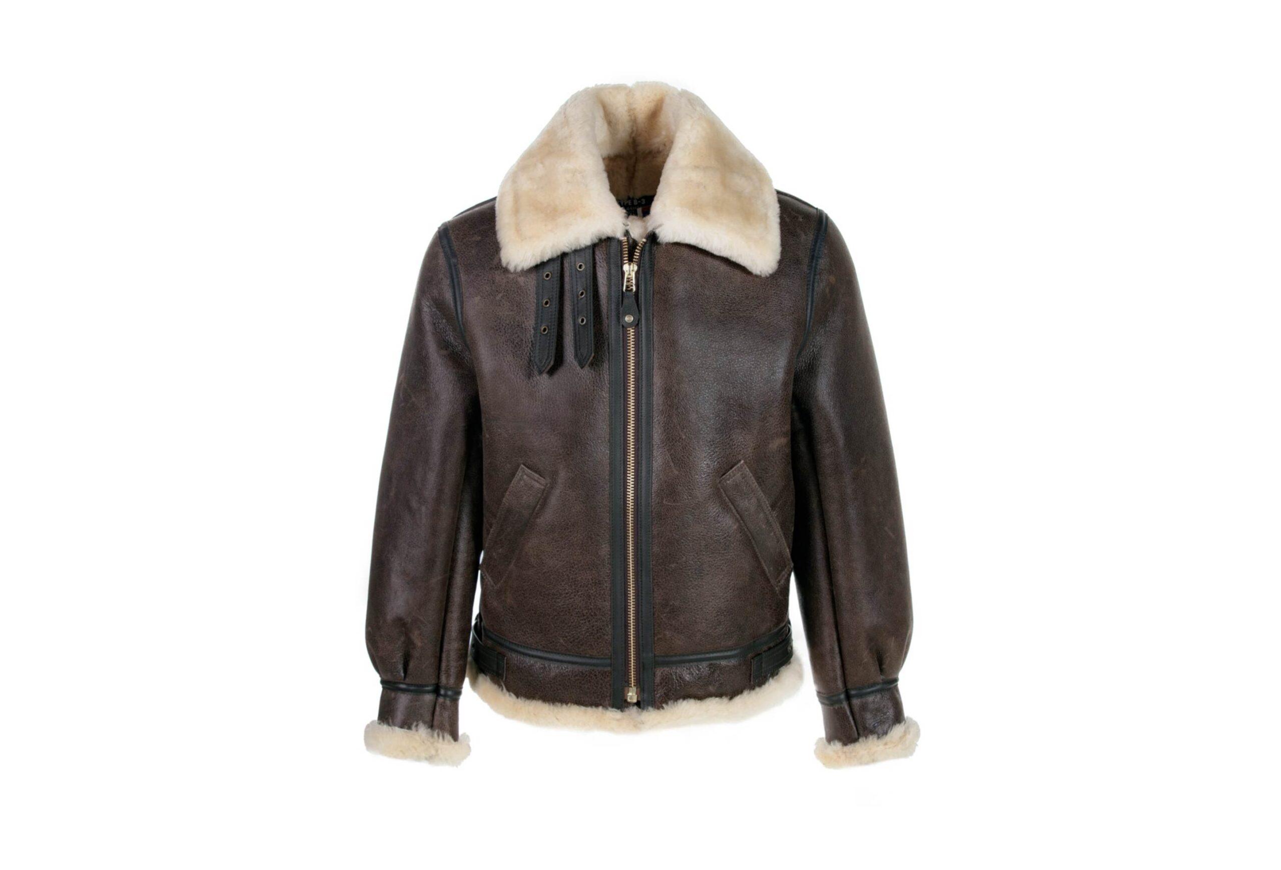 Schott Classic B-3 Sheepskin Leather Bomber Jacket