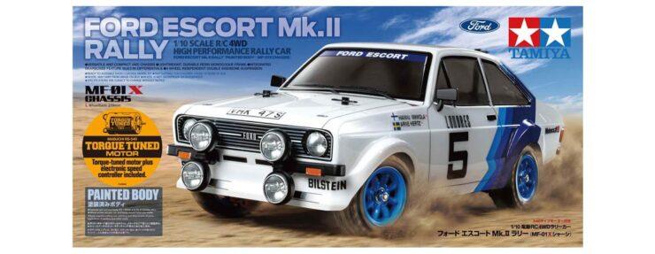 Tamiya Ford Escort Mk II Rally RC Car Box