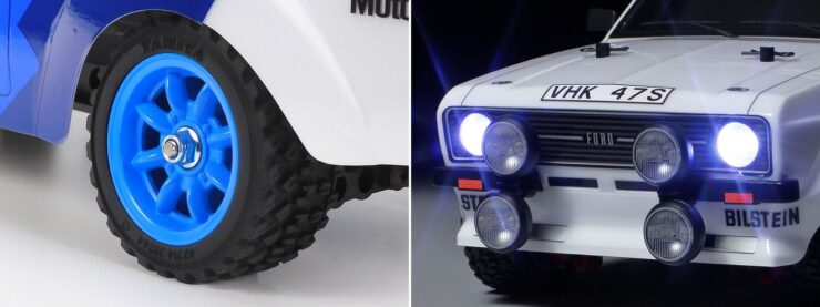 Tamiya Ford Escort Mk II Rally RC Car Collage 2