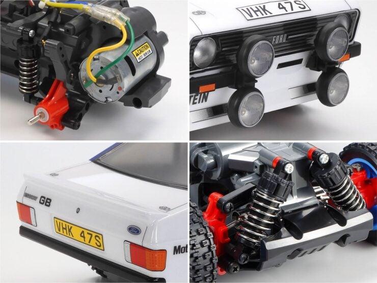 Tamiya Ford Escort Mk II Rally RC Car Collage