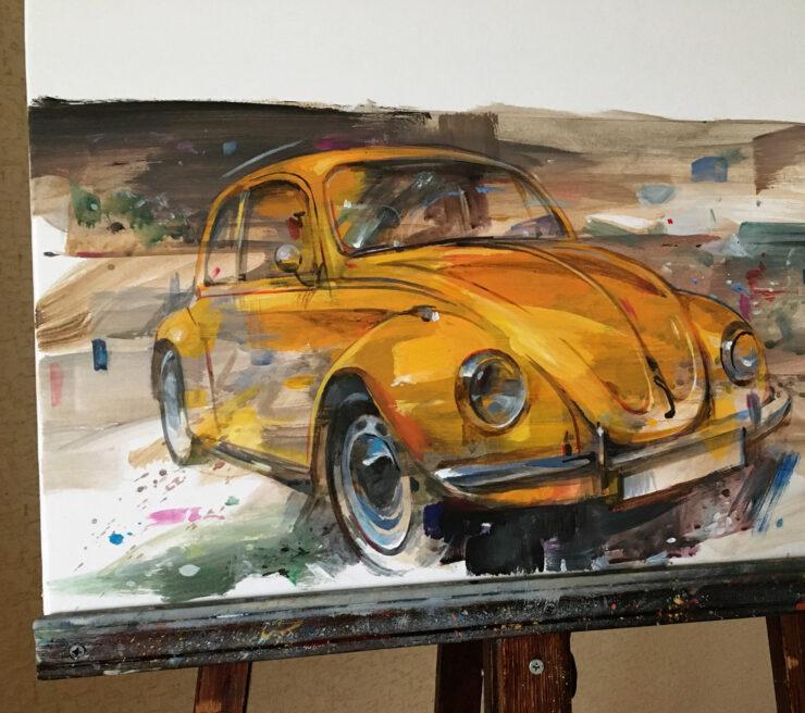 VW Beetle Art