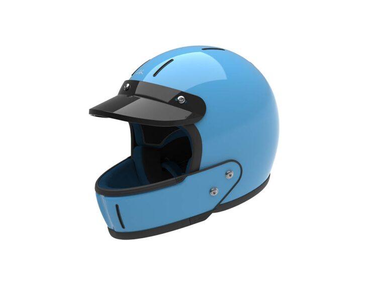 Veldt Enduro Blue Motorcycle Helmet