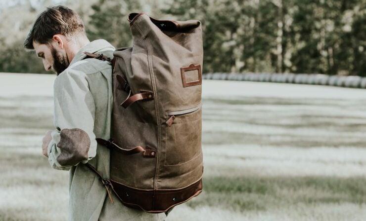 Dakota Waxed Canvas Bag By Buffalo Jackson 6