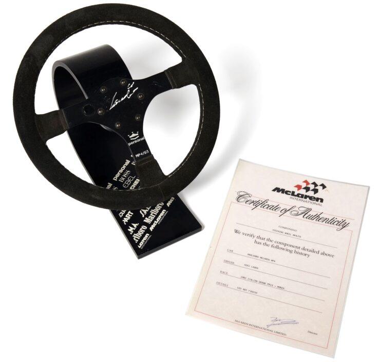 McLaren MP4 Steering Wheel