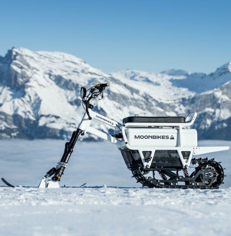 MoonBikes Electric Snow Bike Vertical