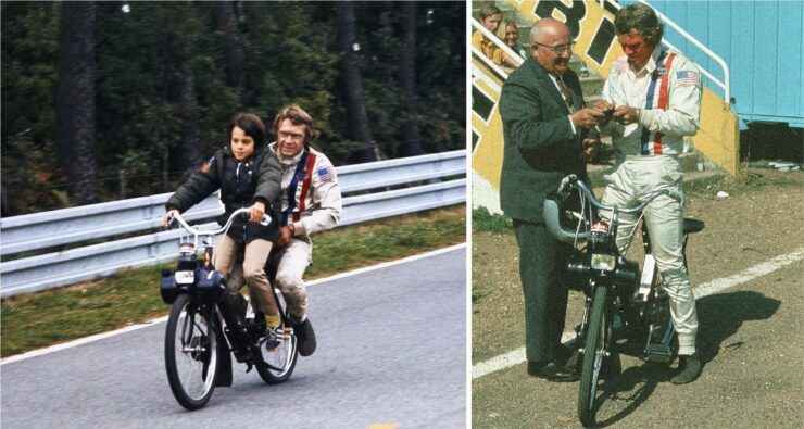 Steve McQueen Solex Moped Le Mans Collage