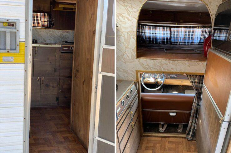 Champer Checker Cab Camper Interior