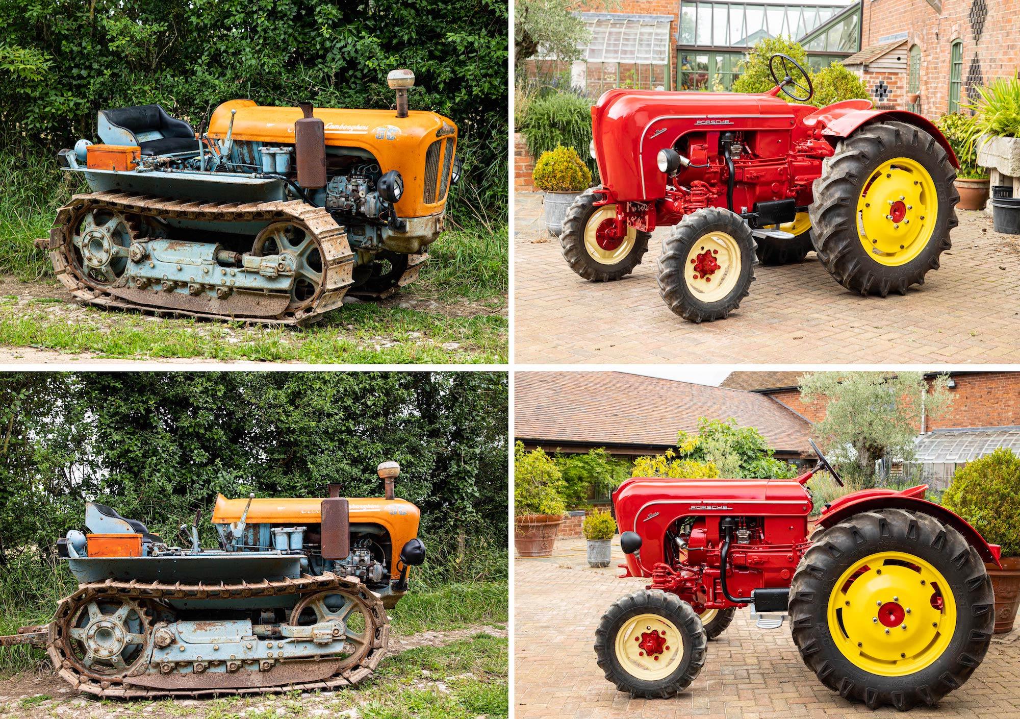 Lamborghini Tractor vs Porsche Tractor