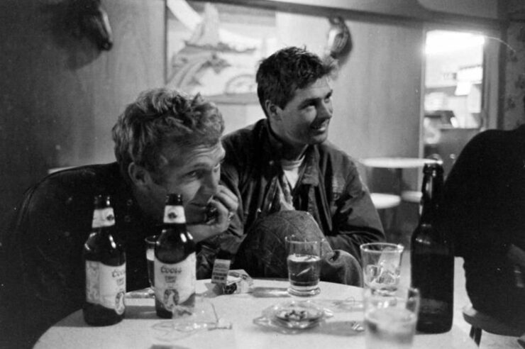 Steve McQueen and Bud Ekins