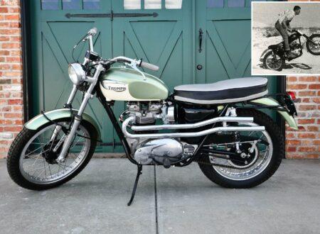 Triumph Bonneville Bud Ekins Steve McQueen Motorcycle