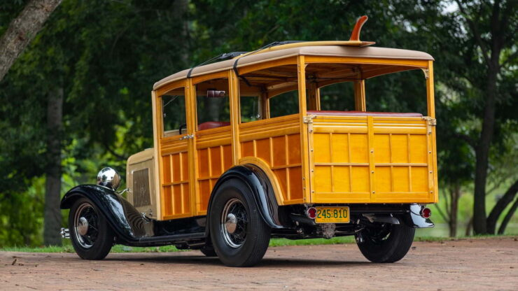 1932 Ford Supercharged V8 Woodie Surf Wagon 12