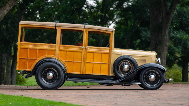 1932 Ford Supercharged V8 Woodie Surf Wagon 9