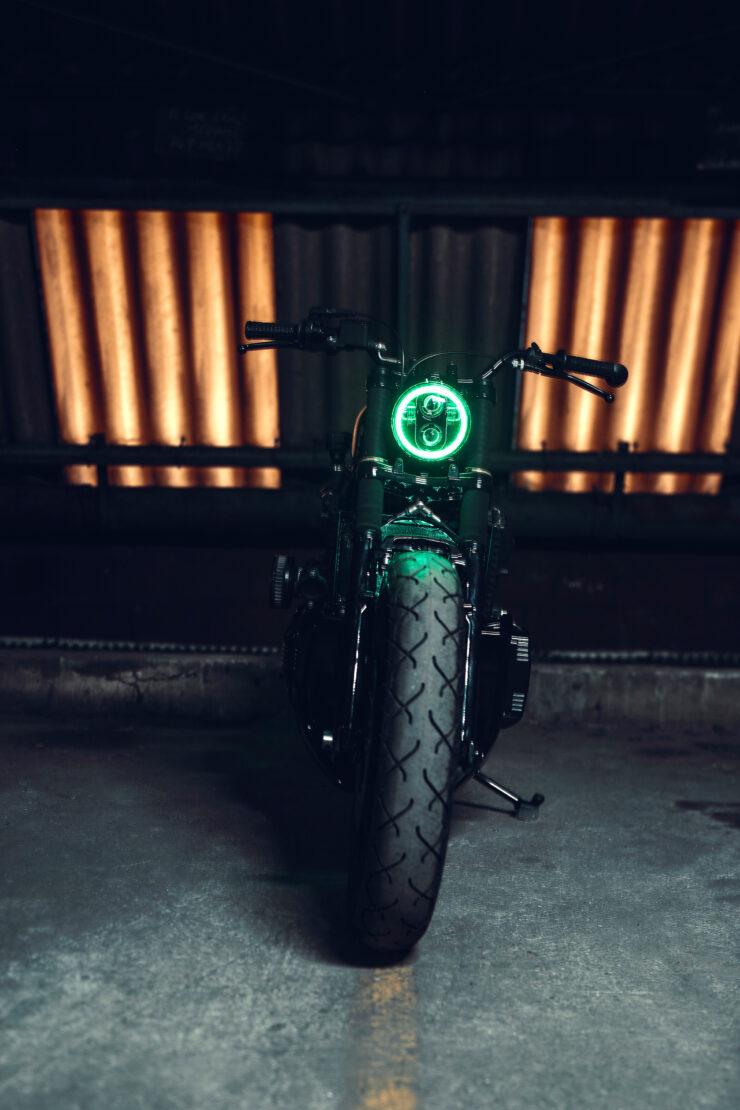 Black Dot Mark II Custom BMW K75 Blitz Motorcycles 9