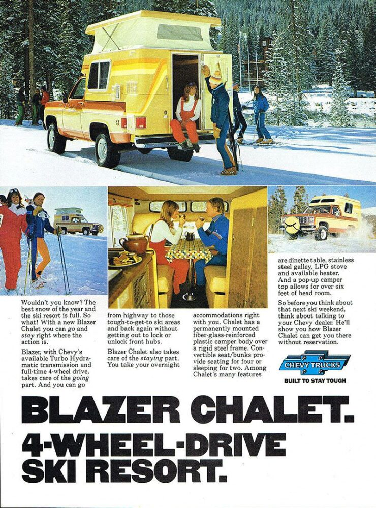Chevrolet Blazer Chalet Ad