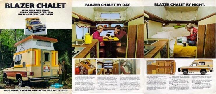 Chevrolet Blazer Chalet Brochure