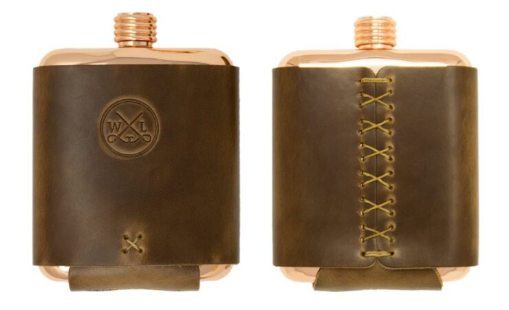 Clark Fork Copper Flask by Whiskey Leatherworks 2