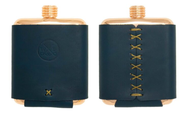 Clark Fork Copper Flask by Whiskey Leatherworks 6