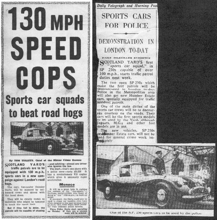 Daimler SP250 Police Car