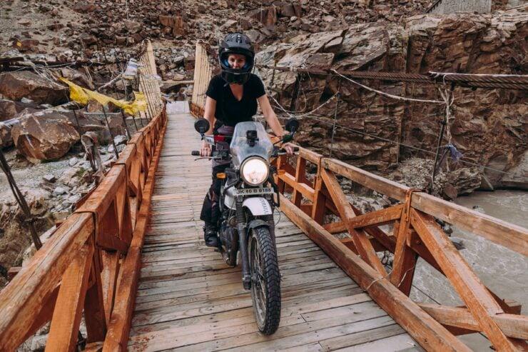 Kate Peck Riding Over Bridge