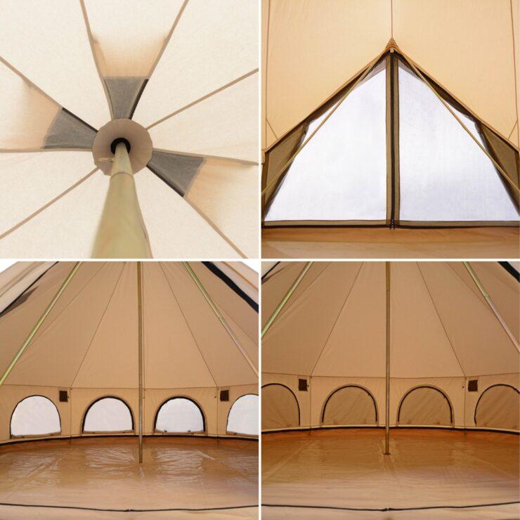 White Duck Avalon Bell Tent Interior