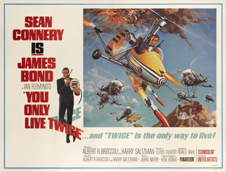 You Only Live Twice James Bond Movie Poster