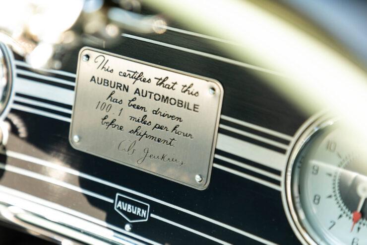 Auburn 851 Supercharged Boattail Speedster Plaque