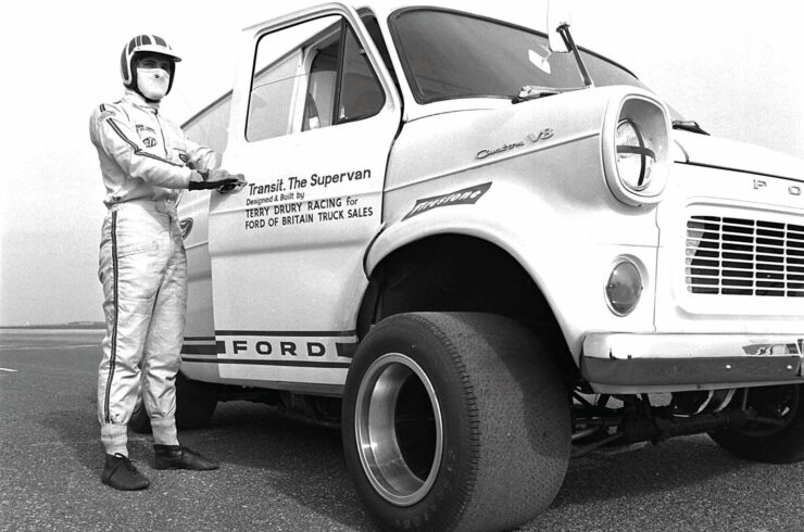 Ford Supervan And Driver